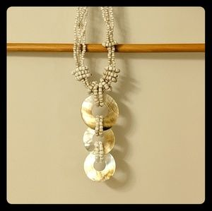 Accessories - Rustic shell necklace with beads